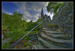 Coblestone & Church (Joseph Rossbach(www.josephrossbach.com)) Tags: church steps historic westvirginia harpersferry hdr cobllestone