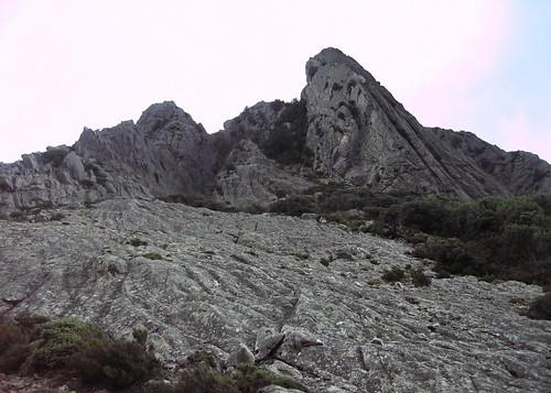 Crête de Compolelli : Punta Chantata et le couloir à sa gauche