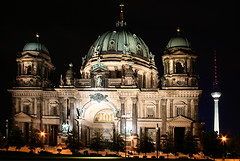 Berlin Cathedral (cool_colonia4711) Tags: berlin fernsehturm televisiontower museumsinsel berlinerdom lustgarten pleasuregarden museumisland berlincathedral mywinners platinumheartaward