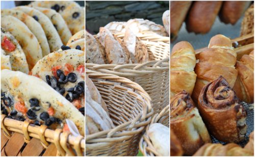newport farmer's market bread collage