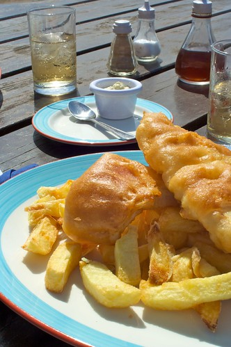 Fish and Chips, The Ship Inn, Elie, Scotland