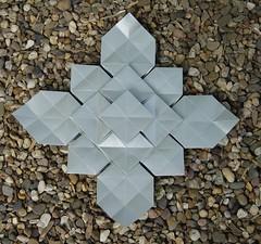 Cloverfolding von Shuzo Fujimoto (Tagfalter) Tags: origami fujimoto tessalation