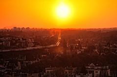 Flames on trails (maciej.ka) Tags: sunset sky hotel spring poland polska x pole burning lan polen ba polonia pozna poznan posen pologne zachod  polsko  puola poloni ptss polonez  polnia poljska  polandia         zachodpoznan