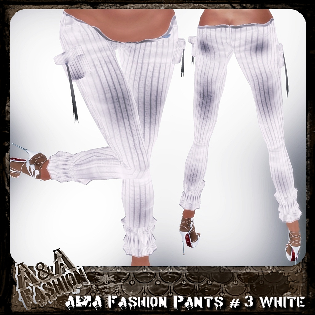 A&A Fashion Pants #3 White