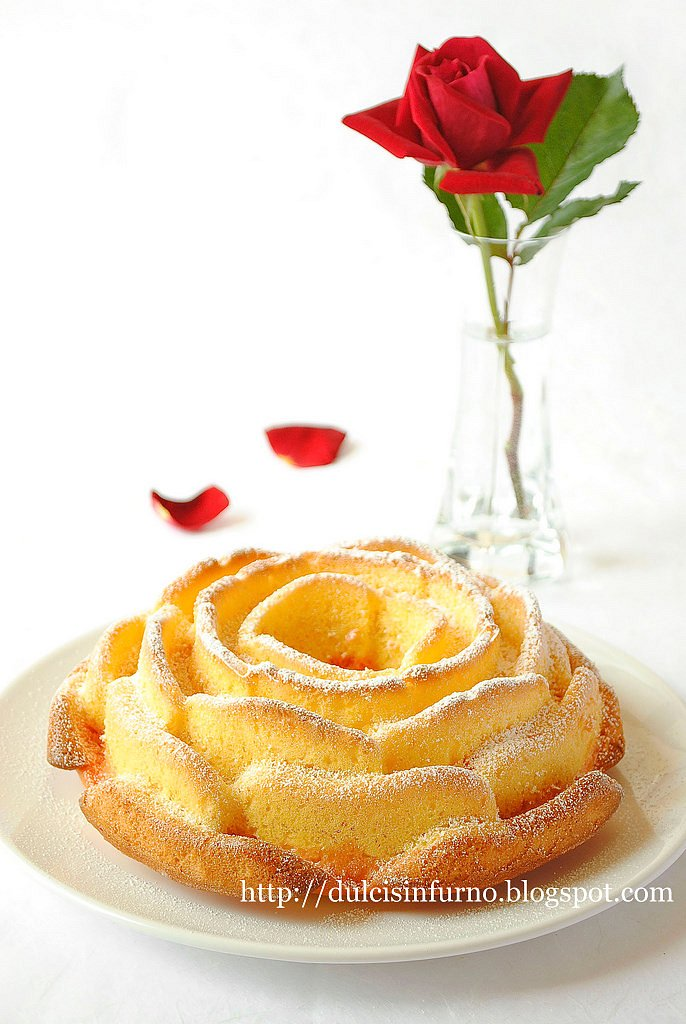 Torta Rosa al Limone e Amarena-Lemon and Sour Cherry Rose Cake