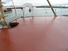 Shiny foredeck