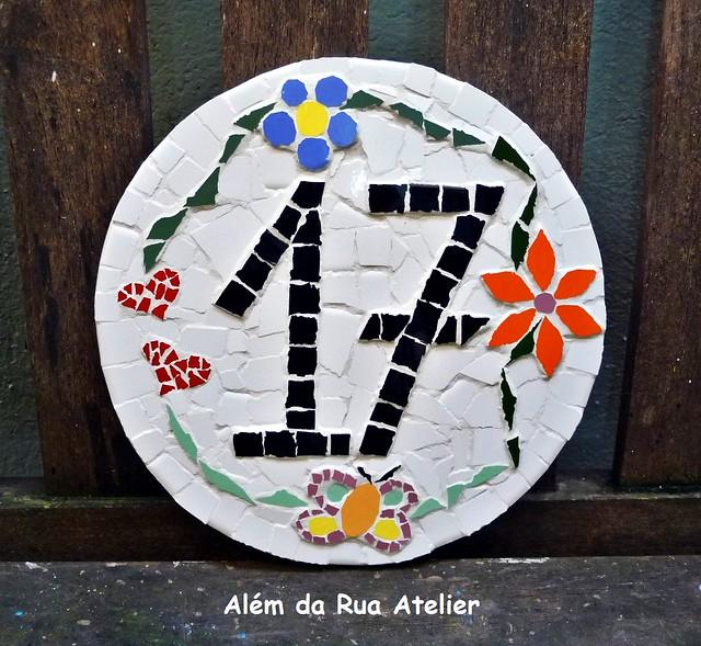 Número Residencial em Mosaico