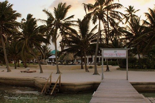 Dock at Sunset, Victoria House, Ambergris Caye, Belize
