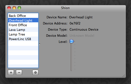 Shion: Devices
