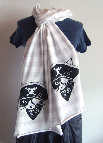 striped pirate kitty scarf