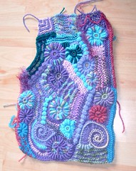 Freefrom Crochet/Knitting (Front piece of Cardigan) (regulli) Tags: knitting crochet cardigan stricken freefrom