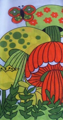 Vintage Mushroom Cafe Curtains