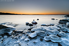 The icy entrance to dawn (Rob Orthen) Tags: winter sea sky ice rock sunrise suomi finland landscape dawn nikon europe scenic rob tokina scandinavia talvi dri meri maisema vesi archipelago pinta d300 kirkkonummi 1116 digitalblending porkkala nohdr orthen roborthenphotography tokina1116 tokina1116mm28 seafinland