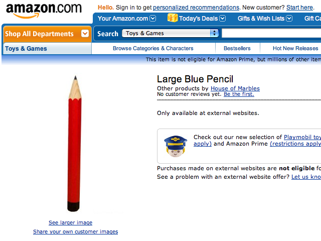 This is The Ultimate Large Blue Pencil | Amazon Fail at Colors [PIC]