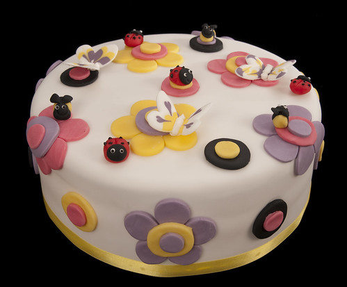 springtime flower insect cake