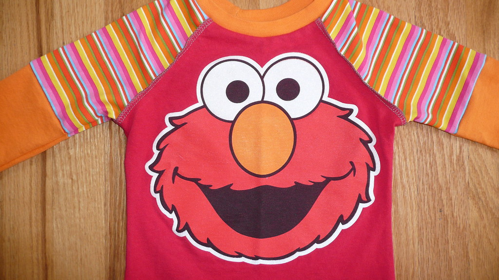 big red funny face t-shirt
