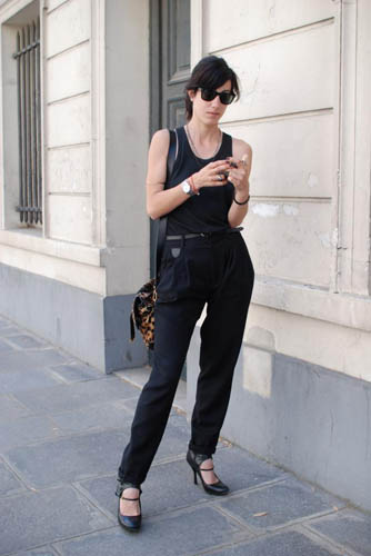 Pleated Black Trousers 1