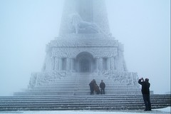 (straboh) Tags: winter gate lion freezing bulgaria shipka somethingoutofamovie averyverycoldmovie