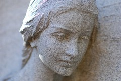 Face in the Cemetery Stone by Joe Beine