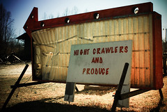 (shiphome) Tags: closed americana produce thesouth roadsidestand arrowsign nightcrawlers ushighway70 mcdowellcounty oldandbroken marionnc