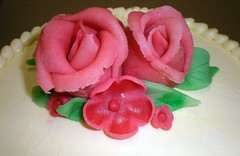 Close up of marzipan flowers (Sweet Designs by Vicki) Tags: flowers marzipan