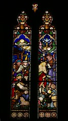 North chancel window, St. Giles, Chesterton