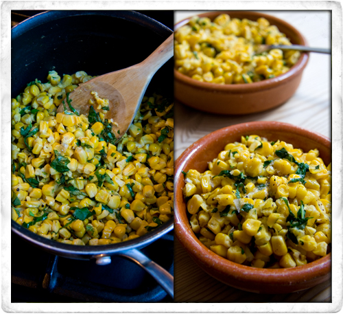 :: Basil and Sweetcorn