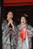 watching the beans being thrown (Derekwin) Tags: smile japan japanese beans nikon kyoto throwing setsubun d700 nikond700 twojapanesegirlslaughing
