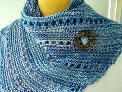 Blue Garter Kerchief