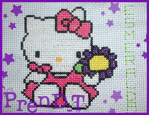 Hello kitty a Punto de Cruz ♥ by PrenD-T♥