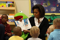 Story time with the First Lady (The U.S. Army) Tags: children army reading book families northcarolina storytime firstlady fortbragg thecatinthehat michelleobama pragerchilddevelopmentcenter