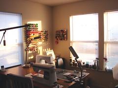 Morning in the Studio (kreatedbykelly) Tags: morning windows favorite sunlight lovely inspiring sewingstudio