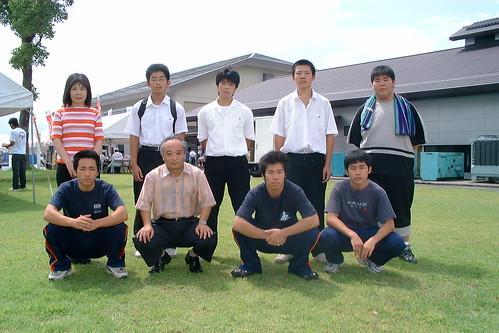 熊本インターハイの清水工業高校選手団