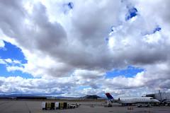 tucson international sky (seylasimm) Tags: arizona sky clouds tia airplane airport ramp tucson jet delta justclouds tucsoninternationalairport canadairregionaljet900