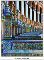Plaza de Espaa II (El Galeno) Tags: espaa geotagged sevilla spain flickr seville andalucia estrellas andalusien canoneos andalousie andalusie cerezuela platinumheartaward photodistillery artofimages bestcapturesaoi
