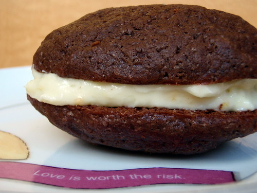 Whoopie Pie with Orange Cream Cheese Buttercream