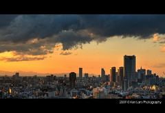 Last sunset from Air Tower.... :( (Ken.Lam) Tags: sunset tower japan tokyo nikon cityscape air hills  roppongi  mori hdr   shibaura d300