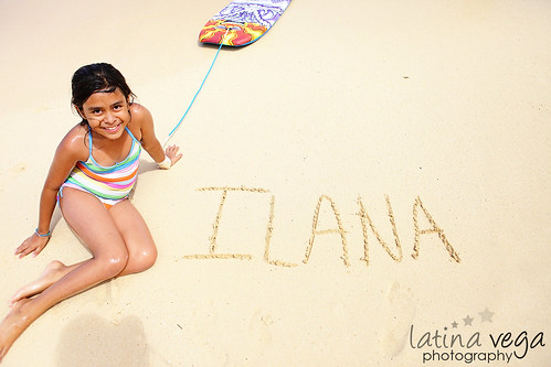 Ilana in the sand by you.