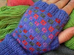 Little gems mittens (Prunila) Tags: blue holiday alpaca knitting gloves ik 2007 mitts blueklein littlegemsmittens