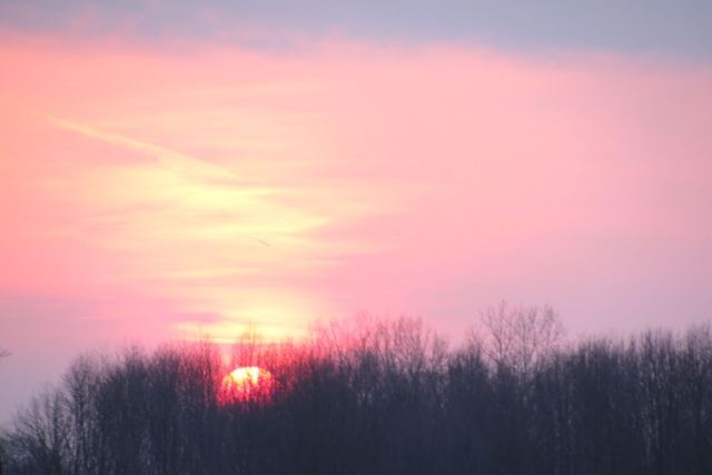 Pink sunset sky photo by Adrienne in Ohio