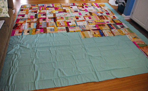 my quilt, in progress