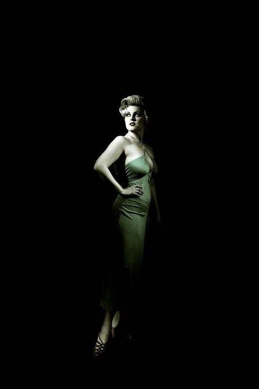 green vintage maxi dress