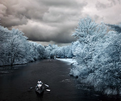 up river (syncros) Tags: park camping bon clouds echo canoe infrared provincial