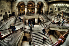 The grand staircase. (kern.justin) Tags: chicago art stairs nikon shift institute tilt hdr d700 kernjustin wwwthewindypixelcom thewindypixel