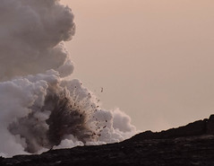 exploding lava (lindilindi) Tags: park black ga volcano hawaii lava smoke explosion steam tropical bigisland volcanic allrightsreserved kilauea active exploding copyrighted lavaflow hawaiiset melindapodor hawaiiavolcanosnational gettyinvited