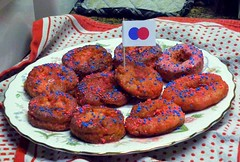 Day of the Donut! (PaperBouquet of Mars) Tags: flickr homemade sprinkles glaze donut doughnut sprinkle thebiggestgroup dayofthedonut frieddonuts frieddoughnuts