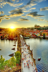 Charles Bridge and Prague Castle (Edgar Barany) Tags: bridge sunset tower castle colors beautiful nikon europe czech prague prag praha praga colores czechrepublic d200 hrad praag ceskarepublika praguecastle malastrana republicacheca mesto nikond200 barany ceskarepublica mywinners prazkyhrad omot anawesomeshot colorphotoaward theunforgettablepictures praguebridge edgarbarany