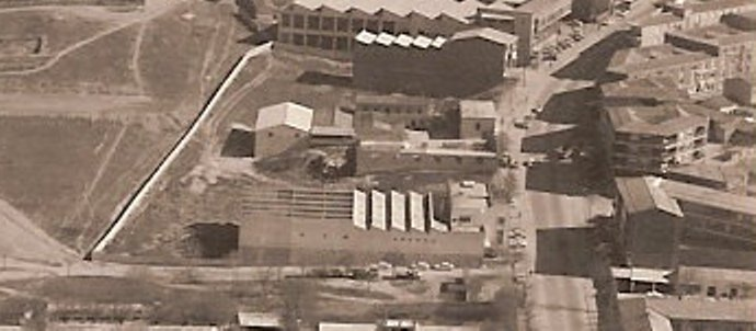 Antigua fábrica de gaseosa La Casera en Toledo en 1974