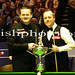 Shaun Murphy faces John Higgins at the Crucible in Sheffield. Betfred World Snooker Championships at the Crucible Theatre in Sheffield, England.