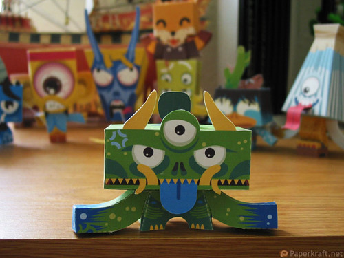 Japanese Monster Papercrafts - Yakubyogami